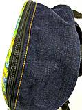 Джинсовий рюкзак ЛЕВ зелений, фото 3