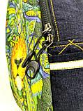 Джинсовий рюкзак ЛЕВ зелений, фото 2