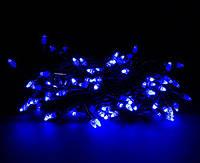 """Гирлянда светодиодная нить """"Конус"""" 20 м, 500 led  черный провод - цвет синий"""
