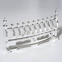 Электрокамин Bohemia 1000/2000 Вт, с эффектом огня, серебро, фото 3