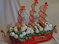 """Букет из конфет""""Корабль любви"""", фото 1"""