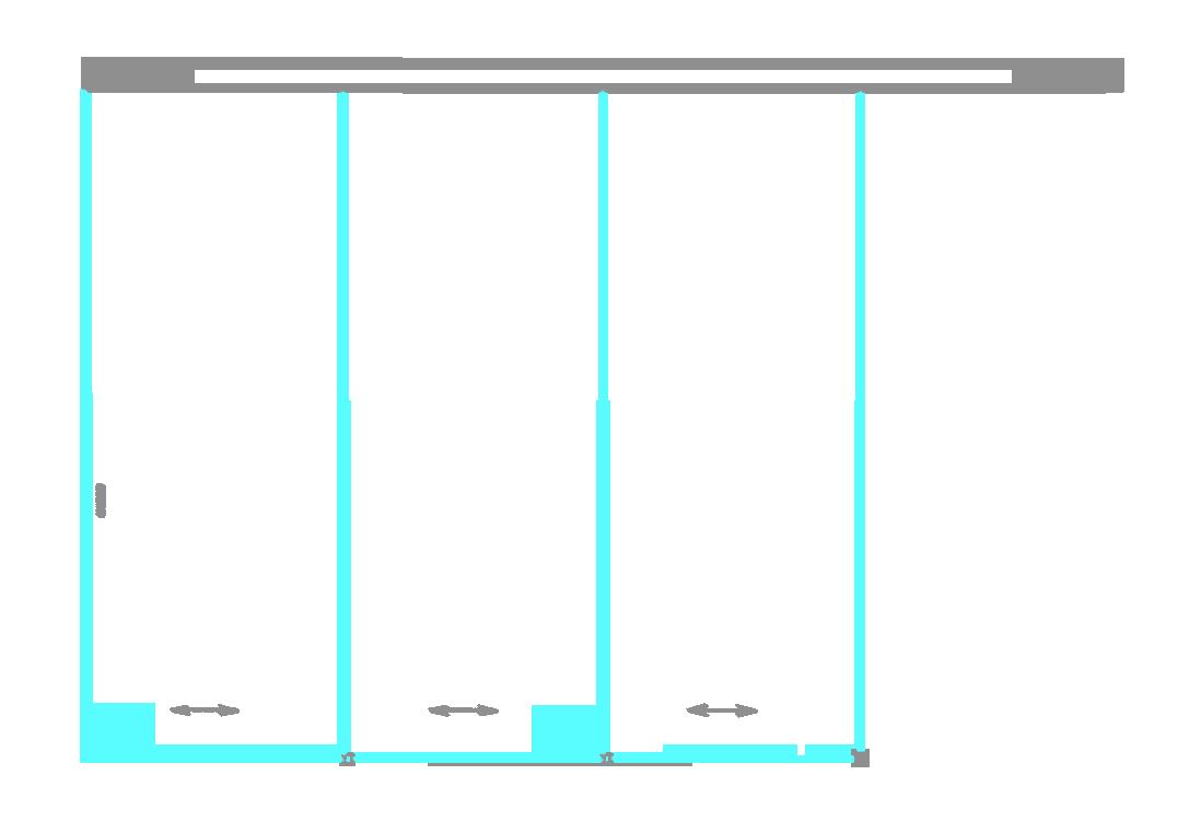 SSGA-10 Раздвижная дверь из стекла - Стеклянная раздвижная перегородка