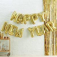 """Гірлянда фальгована """"Happy New Year"""", Гирлянда из шаров """"С Новым Годом"""""""