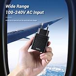 TOPK Quick Charge 3.0 3А 28Вт B254Q быстрое зарядное устройство на 2 usb порта Цвет Чёрный адаптер питания, фото 5