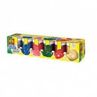 Краски Неоновые цвета 6 цветов в пластиковых баночках