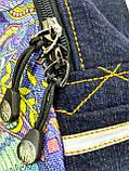 Джинсовый рюкзак ЛЕВ синий, фото 3