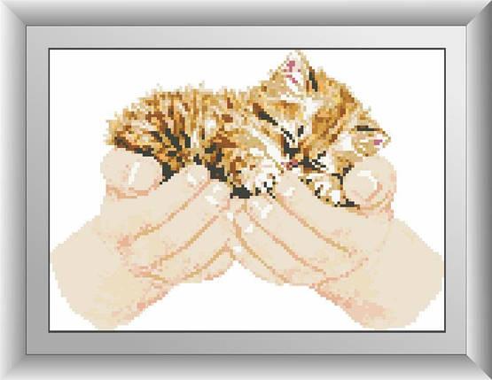 30004 Набор алмазной мозаики Котенок в руках, фото 2