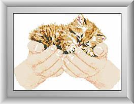 30004 Набор алмазной мозаики Котенок в руках