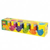 Набор из красок Радуга 6 цветов в пластиковых баночках