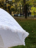 Декоративный белый свадебный зонт от солнца