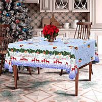 Скатерть новогодняя 150*220 рогожка разных расцветок