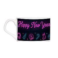Кавова чашка з блюдцем - Happy New Year 150 мл