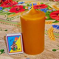 Циліндрична свічка D60-115мм з 100% бджолиного воску; Восковая свеча D60-115мм из 100% пчелиного воска, фото 1