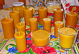 Цилиндрическая восковая свеча D60-115мм из натурального пчелиного воска, фото 7