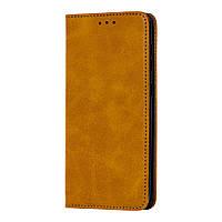 Чехол книжка для Samsung Galaxy A20 / A30 Black magnet коричневый