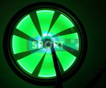 Подсветка на колеса А9 Зеленая