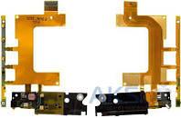 Шлейф Sony C5502 M36h Xperia ZR / C5503 M36i Xperia ZR с кнопкой включения и громкости, вибромотором и микрофоном