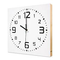 Настенные часы ручной работы Kauza - 3D цифры с деревянным бортом Белые (kau_0004)