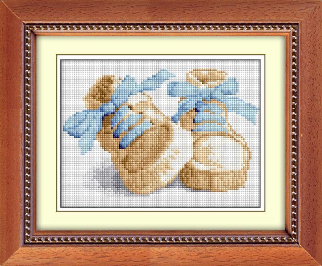 30016 Набор алмазной мозаики Первые шаги - голубой