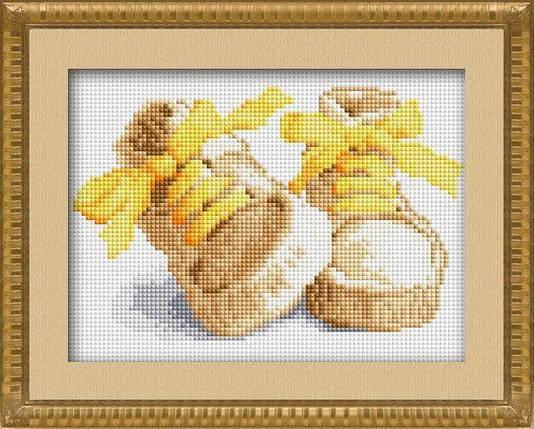 30018 Набор алмазной мозаики Первые шаги - желтый, фото 2