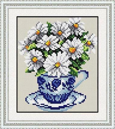 30029 Набор алмазной мозаики Ромашки в чашке, фото 2