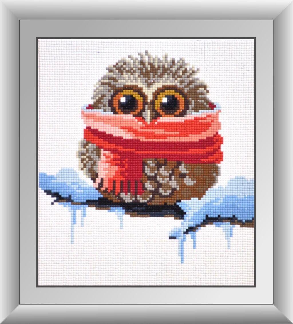 30036 Набор алмазной мозаики Совенок. Зима