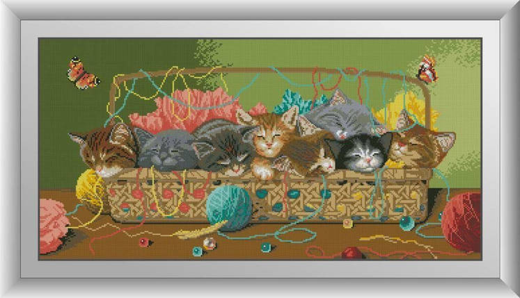 30042 Набор алмазной мозаики Спящие котята, фото 2
