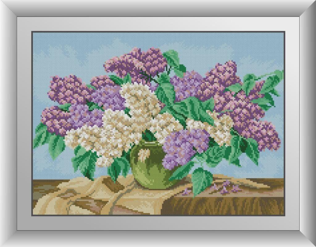 30047 Набор алмазной мозаики Сирень в вазе