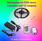 Светодиодная лента с пультом ip67 RGB smd5050 60Led/m (комплект 5 метров), фото 2