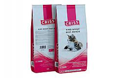 Сухой корм CRISS с говядиной для котов  10кг