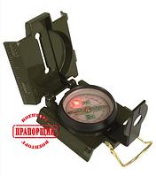 Компас армейский Mil-Tec US OD METAL COMPASS WITH LED LIGHT, фото 1