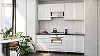 """Кухня """"Міленіум"""" МДФ фарба (білий, чорний, червоний глянець), фото 1"""