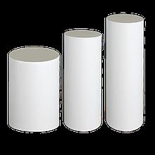 Цилиндр цельный из пенопласта (пенополистирола) внешний Ø 80 мм
