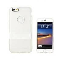 Чехол для IPhone 6 Plus, силиконовый бампер с подставкой, Candy, белый