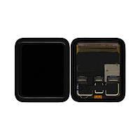 Дисплей для Apple Watch 3 42mm с тачскрином черный, Оригинал