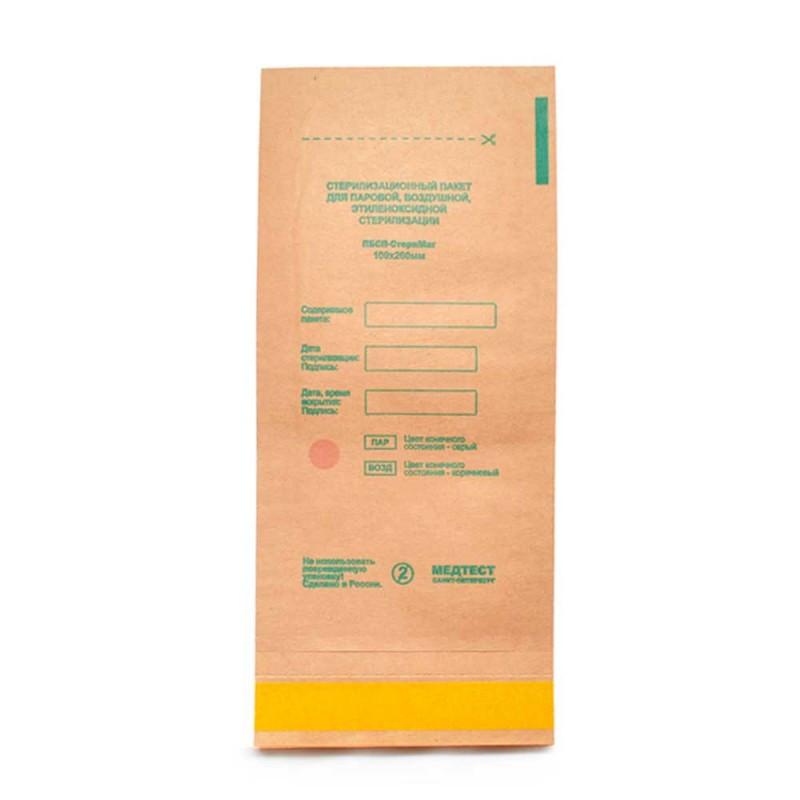 Крафт пакет для стерилизации 115х200 мм, 100 шт/упак