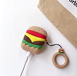 Чехол IQEA тип Гамбургер БЕЗ КОЛЬЦА для наушников Apple AirPods TWS i10 i12 i13 Bluetooth Silicone Case, фото 2