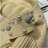 Женский свитер с бусинами на горловине 42-44 (в расцветках), фото 5