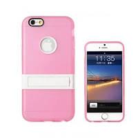 Чехол для IPhone 6 Plus, силиконовый бампер с подставкой, Candy, розовый