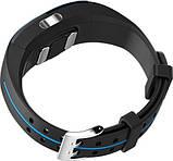 Спортивний розумний фітнес браслет Lemfo P3 Plus з ЕКГ і тонометром синій з сенсорною кнопкою управління, фото 2
