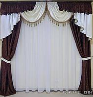 """Шторный комплект на окно 3-3,5 м. """"Корнелия"""", фото 1"""