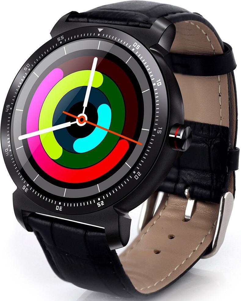 Розумні смарт годинник Lemfo K88h Plus з сенсорним IPS-дисплеєм і знімним ремінцем чорні