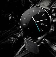 Умные часы Lemfo K88H leather с кожаным ремешком (Черный)