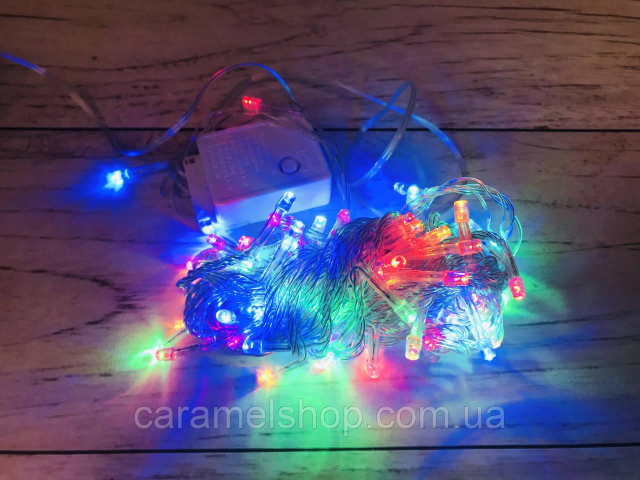 Гирлянда новогодняя Xmas 100 M-1 мультицветная