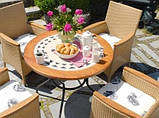 Столи з каменю садові Como 100 см, фото 3