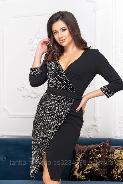 Коктейльное платье 9250 Черный