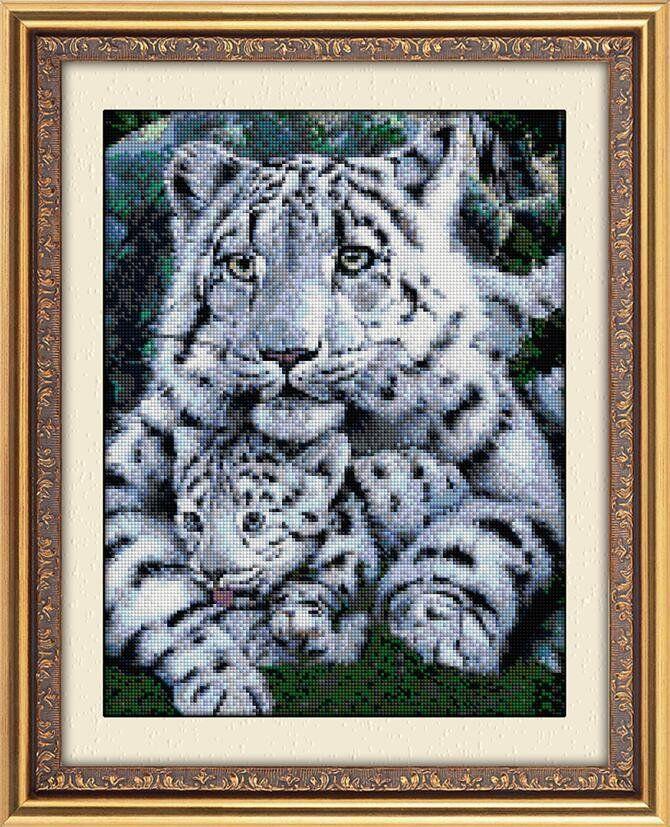 30049 Набор алмазной мозаики Белые тигры
