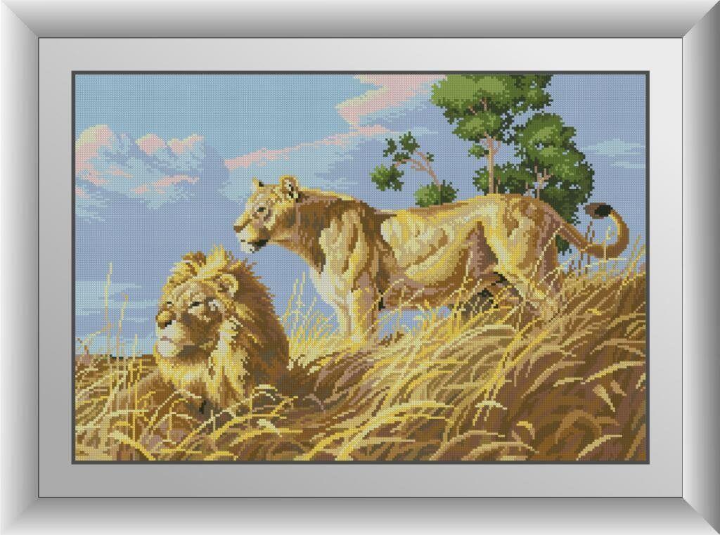 30052 Набор алмазной мозаики Африканские львы