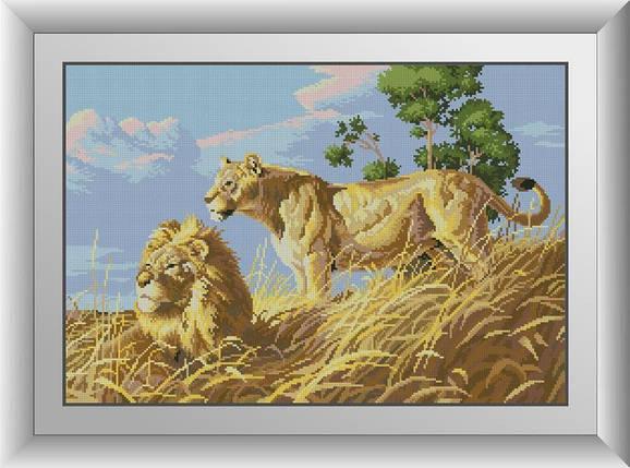30052 Набор алмазной мозаики Африканские львы, фото 2