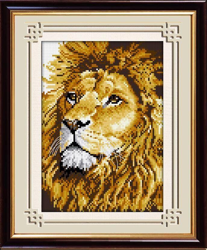 30054 Набор алмазной мозаики Лев